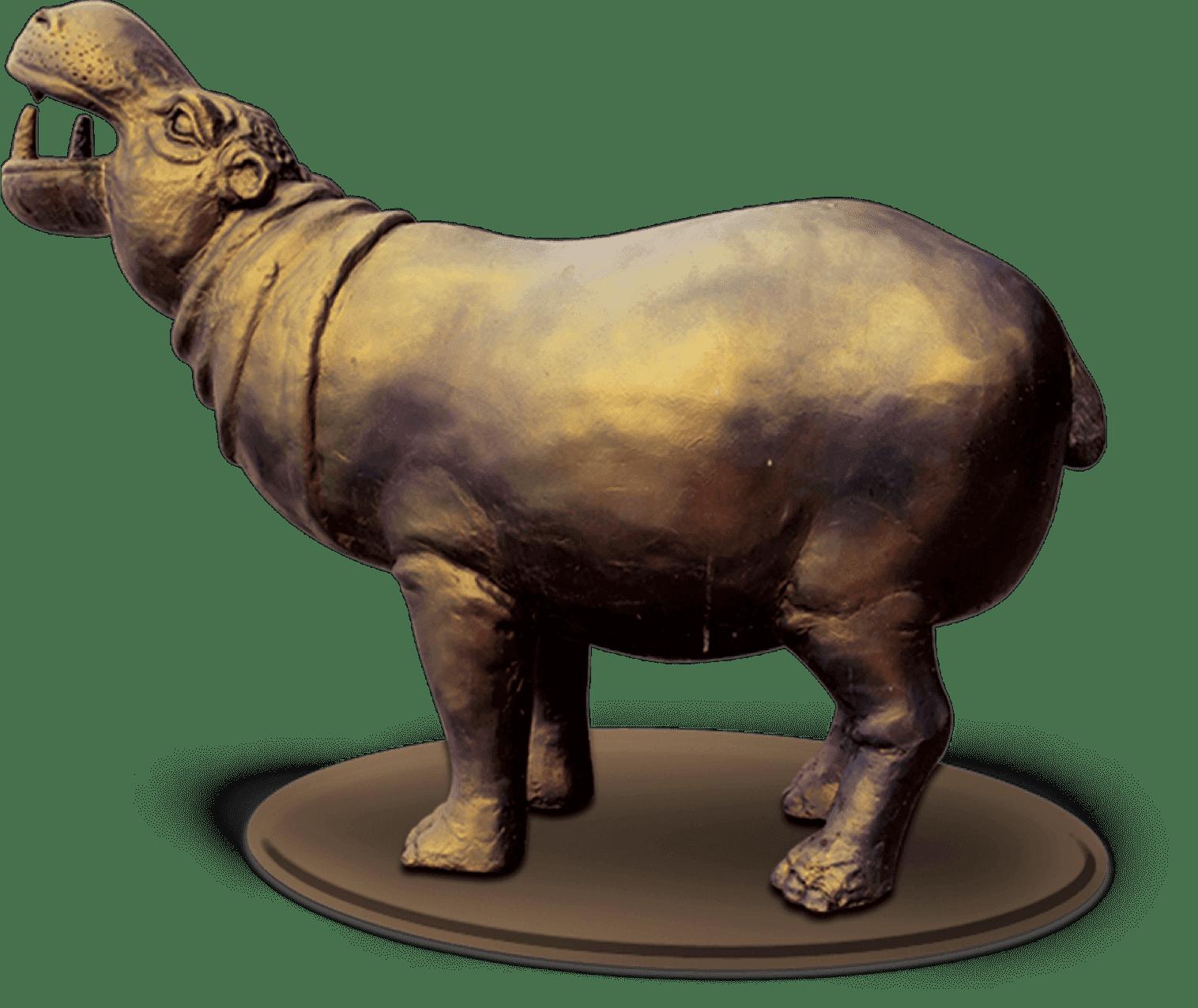 Golden Hippo Mascot